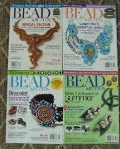 Lot of 4-2011/2012 Bead & Button  Beading Magazines, Nice Lot, L@@K