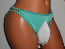 """VANITY FAIR"" TEAL OPEN REAR  BIKINI Sissy POUCH Panties 30-42 XL XDRESS"