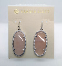Kendra Scott Elle Drop Earrings In Rose Quartz / Silver