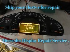 01-04 Mercedes C class,W203  Speedometer cluster LCD display REPAIR SERVICE