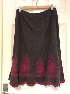 Monsoon Damask Skirt Size 10