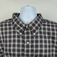Jos A Bank Traveler Black Gray Red Check Plaid Mens Dress Shirt 3XL Tall 3XLT