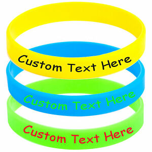 Custom Silicone Wristbands Personalized Rubber Bracelet for Motivation Anti Lost