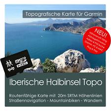 Iberische Halbinsel Topo Karte 20m Höhenlinien 8GB microSD Garmin Navi, PC & MAC