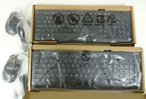 2 Sets of Lenovo 300 Wired USB Combo Keyboard & Mouse NEW SEALED