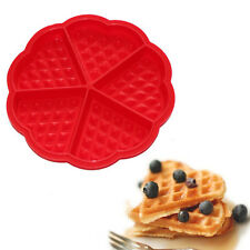 Silicone Mini Round Waffles Pan Cake Baking Mould Mold Waffle Tray 1X RD