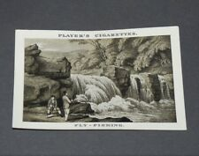 CIGARETTES CARD JOHN PLAYER OLD SPORTING PRINTS HOWITT 1924 N°6 FLY-FISHING