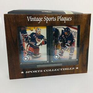 Wayne Gretzky 143 Mike Richter 124 Donruss NHL NY Rangers Card Plaque '97-98 NIB