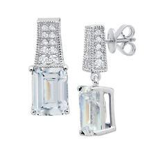 Authentic Crislu Emerald Cut Silver Earrings