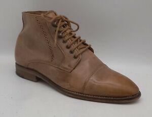 Men's KURT GEIGER Size 6 UK 40 EU Light Brown Ankle Boots Laced In V G U C