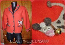 Vtg 70s Trachen Boiled 100% Wool Cow Bell Novelty Hippie Boho Jacket Coat