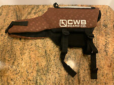CWB Board Co. Dog SMALL Life Jacket Safety Vest Reflective Preserver Brown Bone
