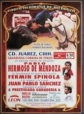 BF51 Bullfight Poster, original from Mexico, Pablo Hermoso de Mendoza Cd. Juarez