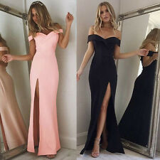 Womens Summer Evening Party Long Formal Bridesmaid Prom Ball Gowns Maxi Dress
