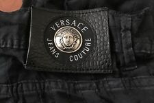 Versace Jeans Couture Vintage White Lace Stripe Jeans Size 36 Regular Fit