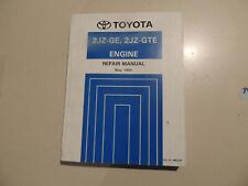 Engine Work shop service manual Toyota SUPRA JZA80 05.1993 Motor Werkstattbuch