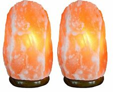 New Indus Classic Pack 2 Gift Idea Himalayan Rock Crystal Salt Lamps 5 ~ 7 Lbs