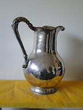 South American Jug, Sterling Silver, Unmarked, 1850, Great Quality, Cast Handle