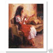 """William Silvano! """"Finishing Touches"""" Limited Edition Giclee on Canvas, W/COA"""