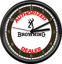Browning Rifle Gun Dealer Firearm Shop Sign Wall Clock