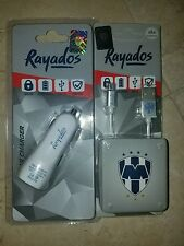 OFFICIAL MONTERREY RAYADOS CAR CHARGER (2 OUTPUT)12 VOLT WITH USB CABLE FOR ANDR