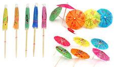 144 Cocktails Umbrella Paper Stick Parasols Party Tropical Drinks Decoration New
