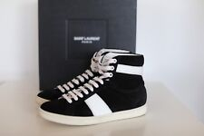 NIB Auth  Saint Laurent Suede Leather High Top Sneakers Lace-up Shoe 6 us 36