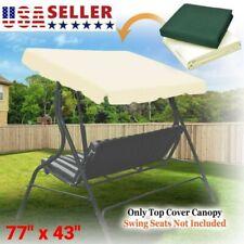 Patio Swing Canopy Seat Top Cover Waterproof Replacement Sunshade Outdoor Garden
