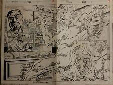 Original comic art: Iron man 289, 2 page spread splash signed by Tom Morgan, 93'