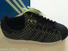 NEW Adidas Superstar LTO Sneakers Black Green Grid Size US Men 5 / UK Men 4.5
