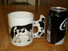 BLACK & WHITE COW, Ceramic Coffee Cup, Mug, VINTAGE