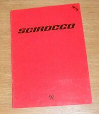 Volkswagen VW Scirocco Brochure 1977-1978 - 1.6 GLS
