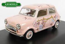 Oxford Diecast Min014n Austin Mini in Floral Pink Design Wedding 1 43