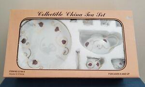 Vintage Miniature Tea Set Great For Dolls 10 Piece Original Box