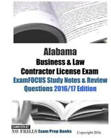 Alabama Business & Law Contractor License Exam Examfocus Study Notes & Review...