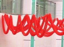 2 CHINESE 2M ROUND BOLD GARLAND RED BUNTING WEDDING BIRTHDAY GARDEN PARTY DECO