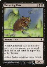 MTG X4: Chittering Rats, Darksteel, C, Light Play - FREE US SHIPPING!
