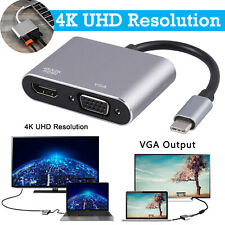 USB 3.1 Type C To VGA HUB USB C To HDMI Adapter 4K UHD Converter Multiport U.S