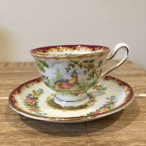 Royal Albert Coffee Cup and Saucer Chelsea Bird
