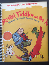 for FIDDLER on the ROOF/ Broadway Musical fan / Vintage Album Cover NOTEBOOK lp