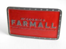 Red Rectangular McCormick Farmall Belt Buckle