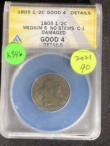 1805 Half Cent K346