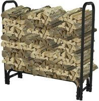 Heavy Duty Firewood Rack 4 ft. Outdoor Heating Patio Fireplace Accessories New
