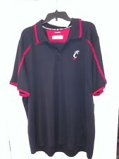 University Of Cincinnati Bearcats Adidas Climalite Polo Shirt Mens 2XL Black