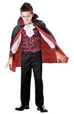Vampire Costume Boys L 10-12 Seasons Shirt Cape Pants Red Black Cosplay Large