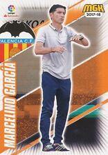 509 MARCELINO GARCIA ESPANA VALENCIA.CF ENTRENADOR CARTA CARD MGK 2018 PANINI