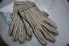 Vintage Le Gant Hermes Wear Right Usa Blue Striped Gloves