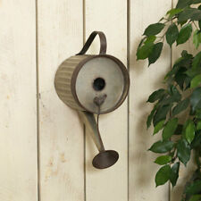 """NWT Gerson 16.5""""H Metal Watering Can Birdhouse w/ Perched Bird Accent"""