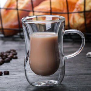 Innovative Double Wall Insulated Glass Cup Heat-resistant Tea Coffee Latte Mugs