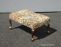 Vintage French Provincial Floral Footstool